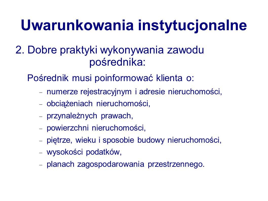 Uwarunkowania instytucjonalne 2.