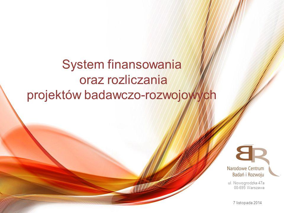 Narodowe Centrum Badań i Rozwoju Programy strategiczne Programy krajowe Obronność i bezpieczeństw o Programy międzynarodowe Fundusze europejskie Biostrateg Strategmed Energetyka Kopalnie Energetyka jądrowa Projekt informatycz ny Sektorowe  Innolot  Innomed Blue - Gas Demonstrator Innotech Innowacje Społeczne Lider PBS Kreator Patent Gekon Spin-Tech Tango Go-Global AAL BONUS EUREKA Eurostars Era-Net JPI Polsko- Norweska Współpraca Badawcza Współpraca dwustronna Berlin Czechy Izrael Japonia POIG POIŚ POKL 2014-11-07 System finansowania oraz rozliczania projektów badawczo-rozwojowych
