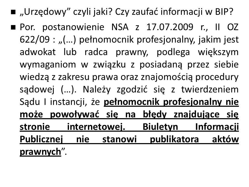 """""""Urzędowy czyli jaki.Czy zaufać informacji w BIP."""