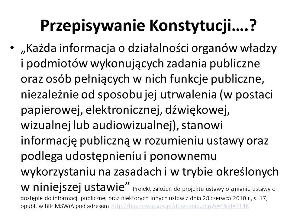 Przepisywanie Konstytucji…..