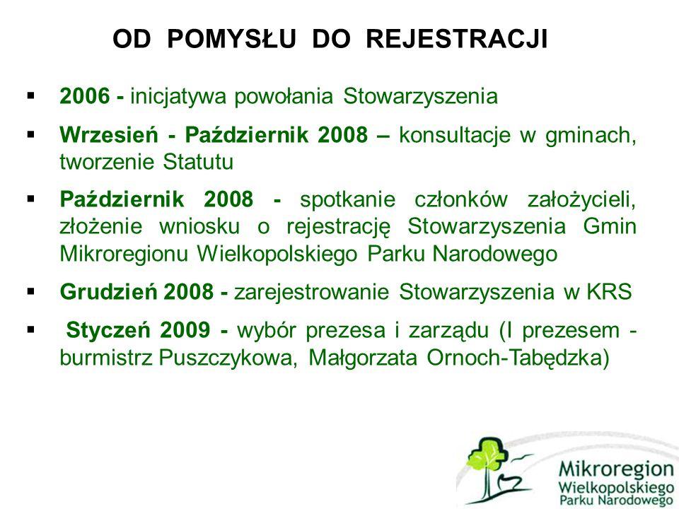 OBSZAR I CEL DZIAŁANIA  Marzec 2011- Powołanie nowego prezesa i zarządu - burmistrz Mosiny- Zofii Springer Obrona wspólnych interesów gmin Mikroregionu WPN