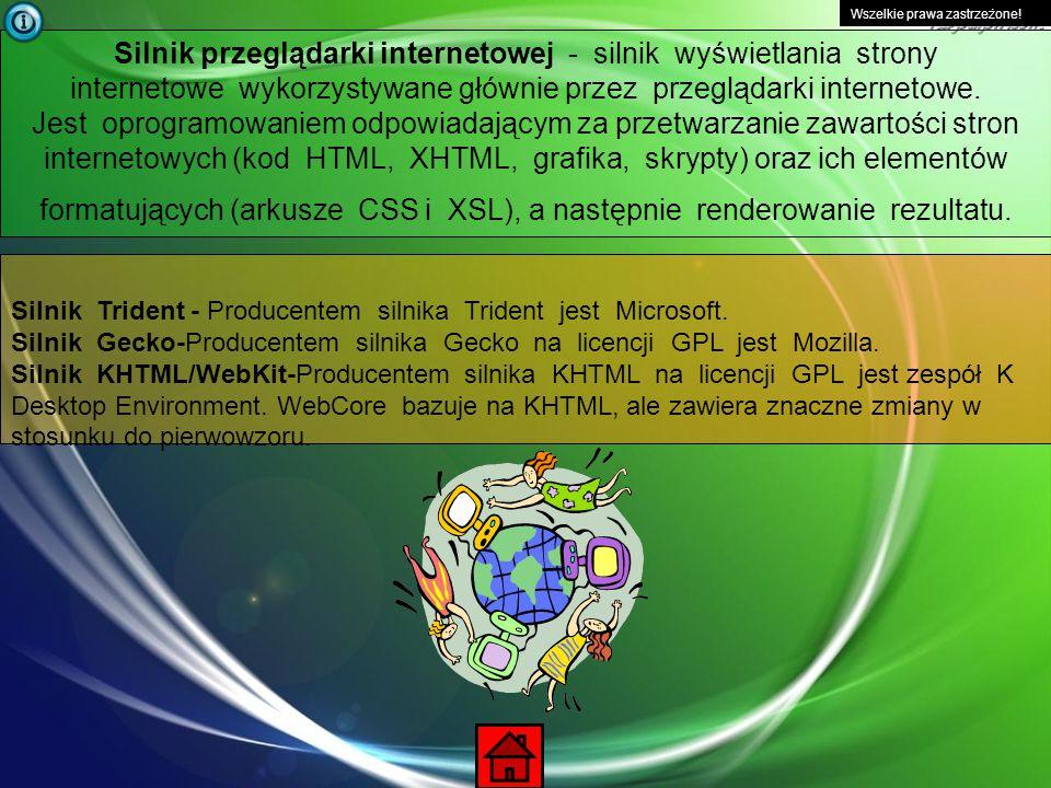 Wszelkie prawa zastrzeżone! PozycjaPrzeglądarkiOdsłony 1. Firefox51.31 % 2. Internet Explorer36.42 % 3. Opera9.11 % 4. Chrome2.11 % 5. Safari0.56 %
