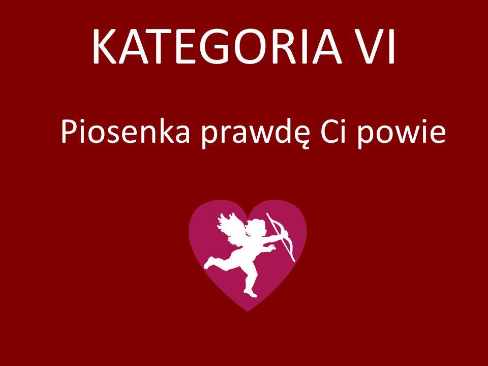 KATEGORIA VI Piosenka prawdę Ci powie