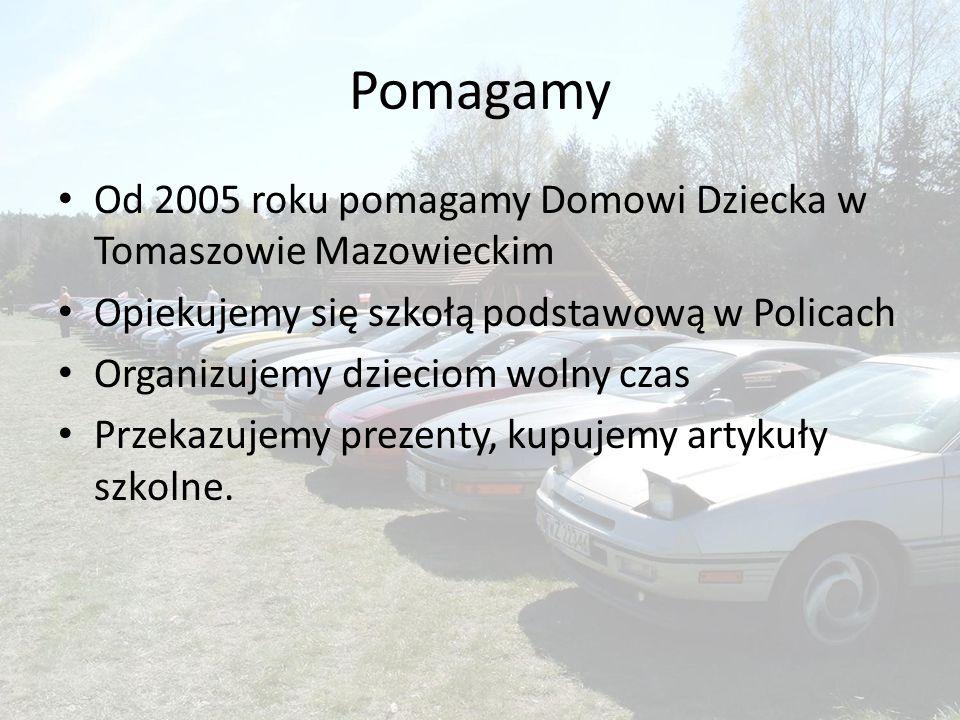 Pomagamy Od 2005 roku pomagamy Domowi Dziecka w Tomaszowie Mazowieckim Opiekujemy się szkołą podstawową w Policach Organizujemy dzieciom wolny czas Przekazujemy prezenty, kupujemy artykuły szkolne.