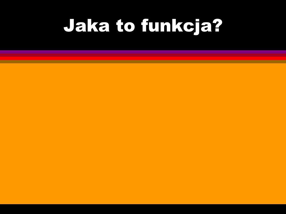Jaka to funkcja?