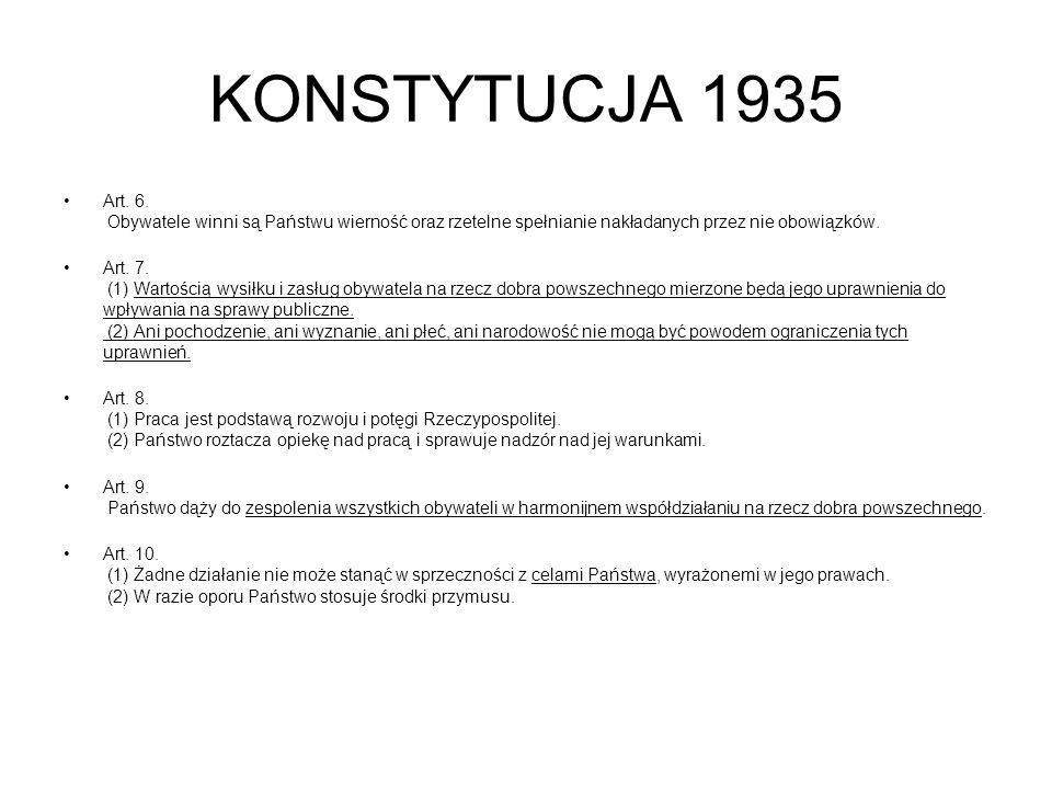 KONSTYTUCJA 1935 Art.6.