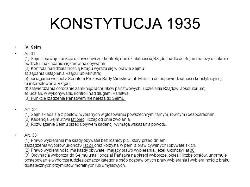 KONSTYTUCJA 1935 IV.