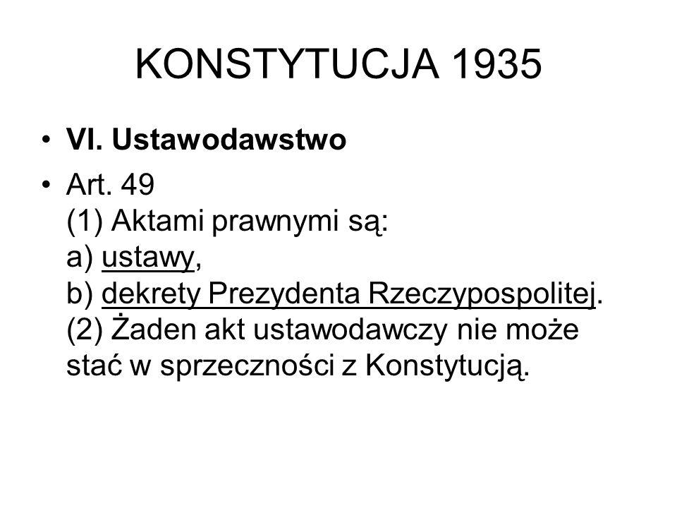 KONSTYTUCJA 1935 VI.Ustawodawstwo Art.