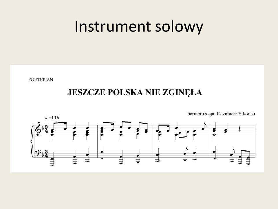 Instrument solowy