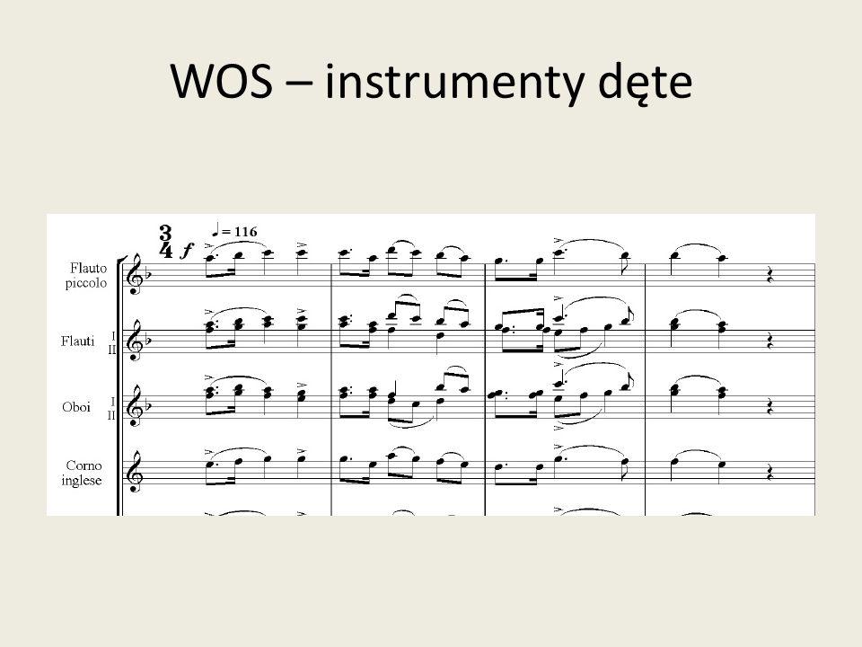 WOS – instrumenty dęte