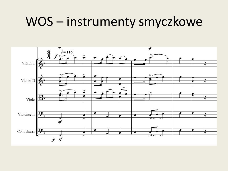 WOS – instrumenty smyczkowe