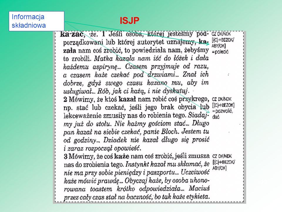 30 ISJP Informacja składniowa
