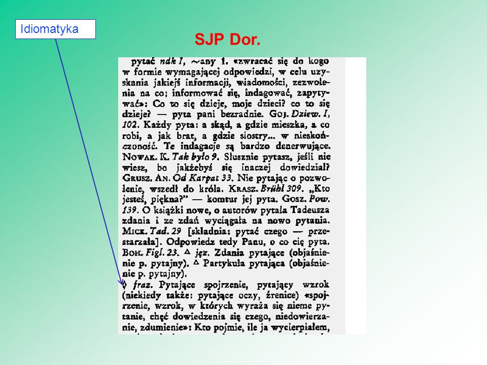 31 SJP Dor. Idiomatyka