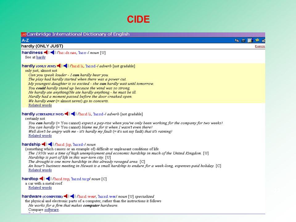 CIDE (1995) 32 CIDE