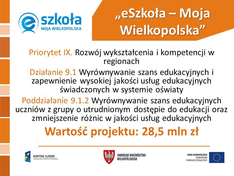 """""""eSzkoła – Moja Wielkopolska Priorytet IX."""