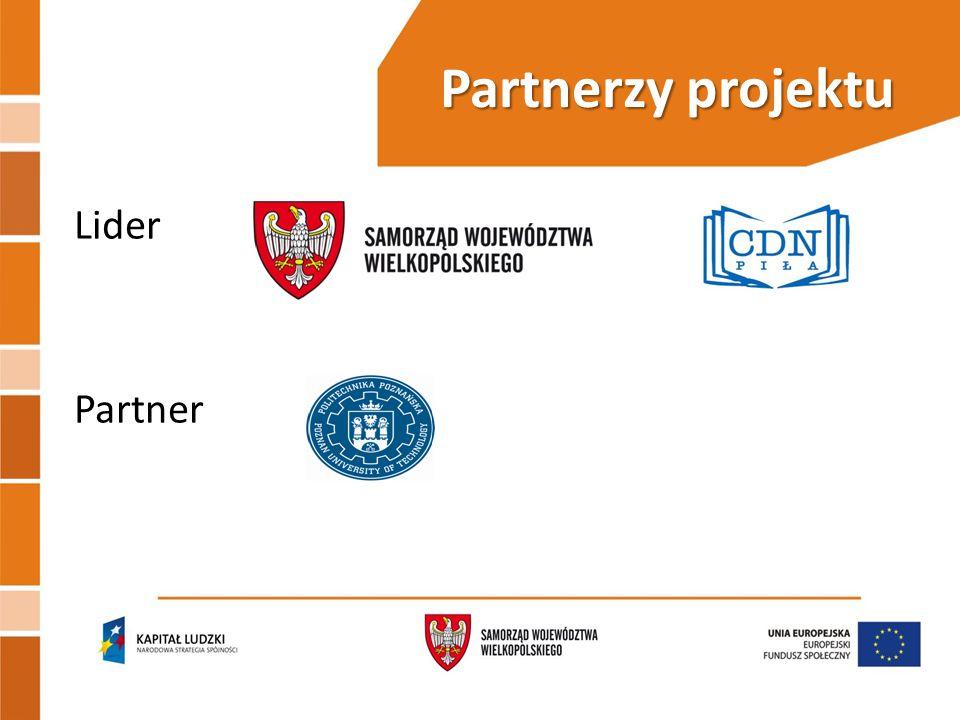Partnerzy projektu Lider Partner