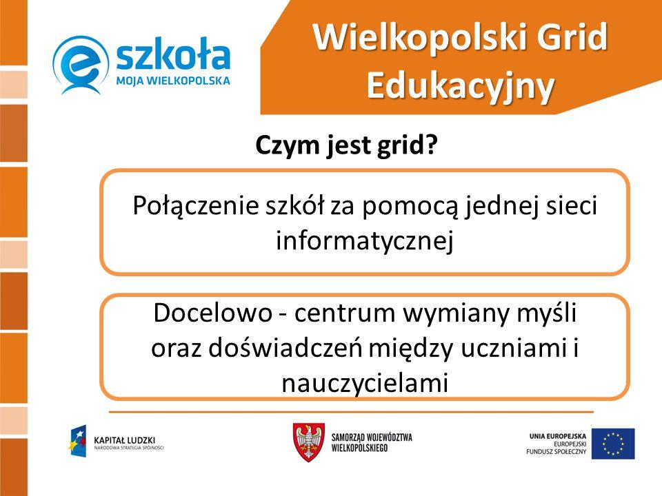 Wybrane formy wsparcia  zajęcia pozalekcyjne prowadzone metodą projektu z wykorzystaniem nowoczesnych narzędzi  warsztaty i seminaria dla nauczycieli  przyłączenie 105 szkół do wielkopolskiego gridu edukacyjnego