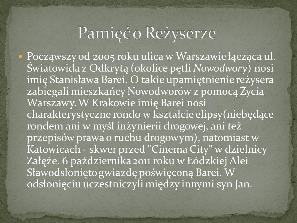 Począwszy od 2005 roku ulica w Warszawie łącząca ul.
