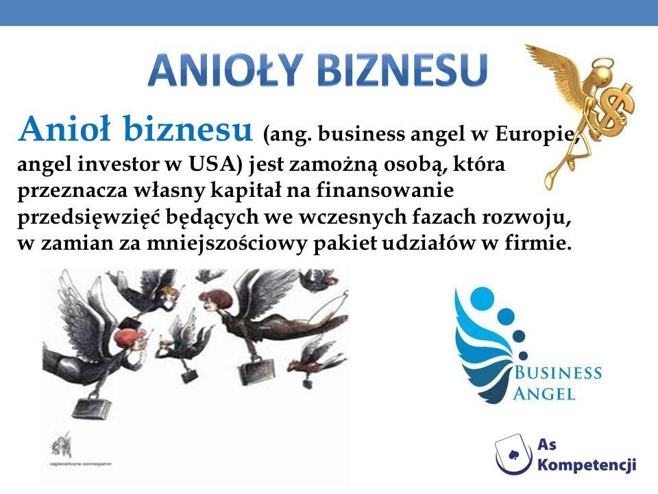 Anioł biznesu (ang. business angel w Europie, angel investor w USA) jest zamożną osobą, która przeznacza własny kapitał na finansowanie przedsięwzięć