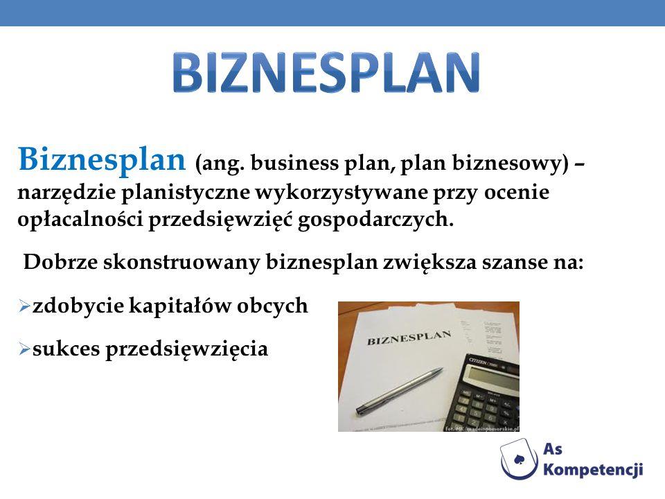 Biznesplan (ang. business plan, plan biznesowy) – narzędzie planistyczne wykorzystywane przy ocenie opłacalności przedsięwzięć gospodarczych. Dobrze s