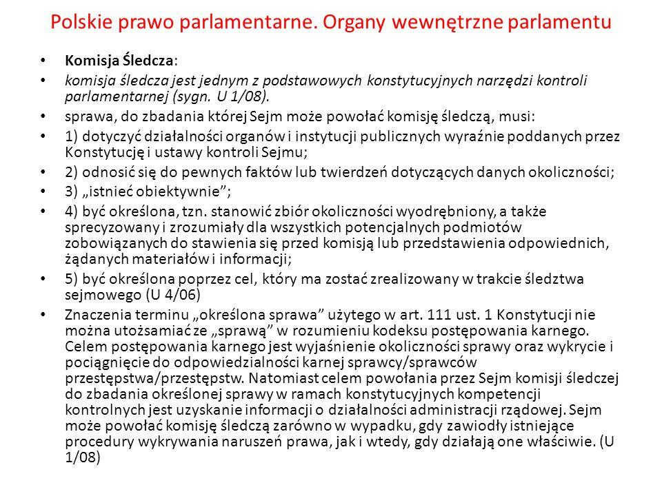 Polskie prawo parlamentarne.