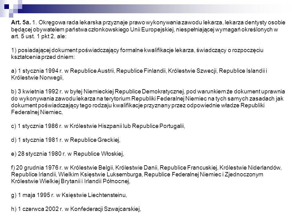 2) ustawa z dnia 28 października 1950 r.o zawodzie lekarza (Dz.