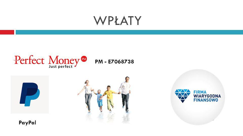 WPŁATY PM - E7068738 PayPal
