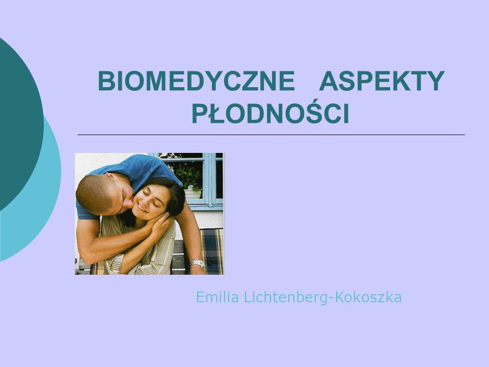BIOMEDYCZNE ASPEKTY PŁODNOŚCI Emilia Lichtenberg-Kokoszka
