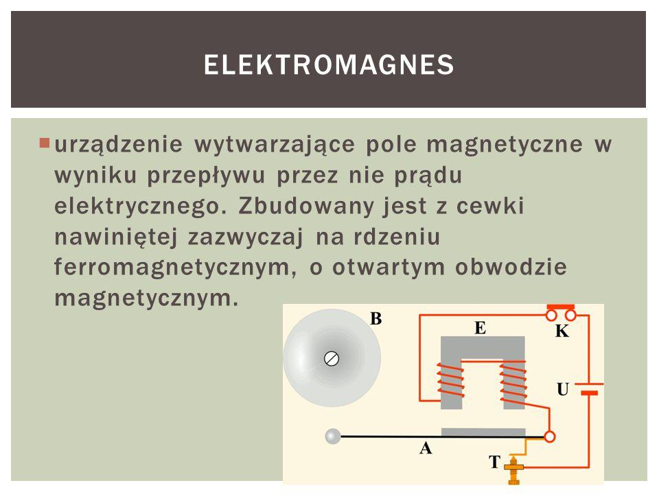  urządzenie wytwarzające pole magnetyczne w wyniku przepływu przez nie prądu elektrycznego.