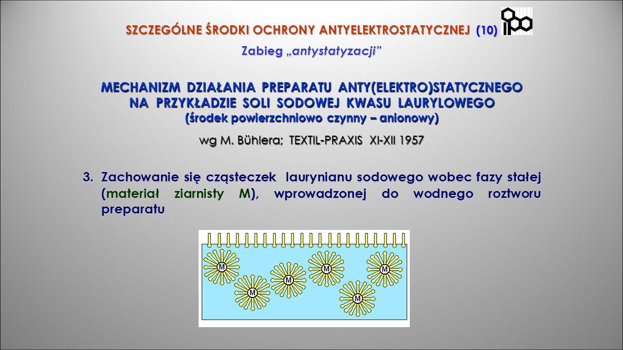 """SZCZEGÓLNE ŚRODKI OCHRONY ANTYELEKTROSTATYCZNEJ (10) Zabieg """"antystatyzacji"""" MECHANIZM DZIAŁANIA PREPARATU ANTY(ELEKTRO)STATYCZNEGO NA PRZYKŁADZIE SOL"""