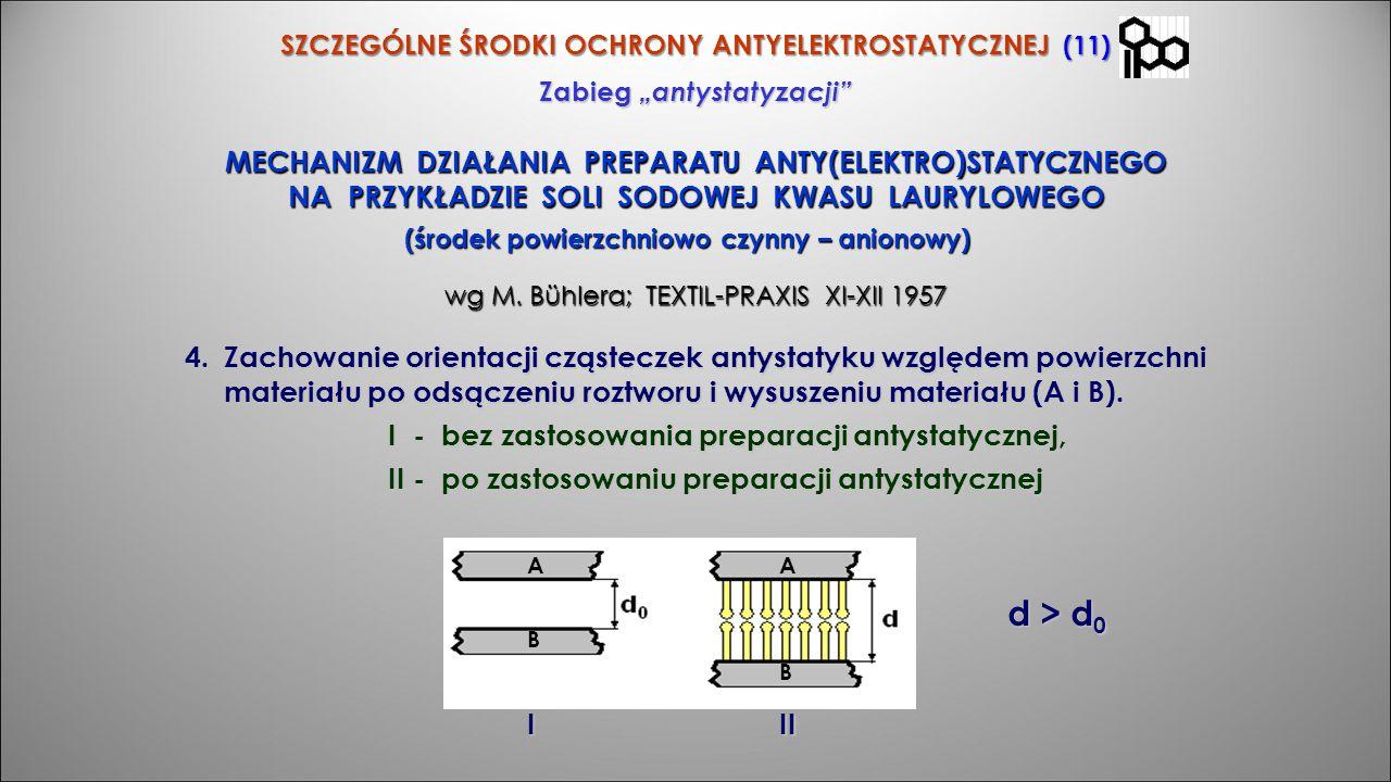 """SZCZEGÓLNE ŚRODKI OCHRONY ANTYELEKTROSTATYCZNEJ (11) Zabieg """"antystatyzacji"""" MECHANIZM DZIAŁANIA PREPARATU ANTY(ELEKTRO)STATYCZNEGO NA PRZYKŁADZIE SOL"""