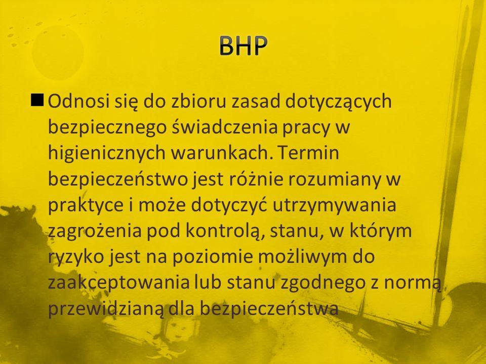 Na straży przestrzegania przepisów i zasad bhp w polskich zakładach pracy stoi Państwowa Inspekcja Pracy (PIP).