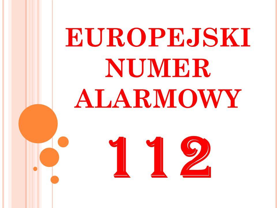 EUROPEJSKI NUMER ALARMOWY 112