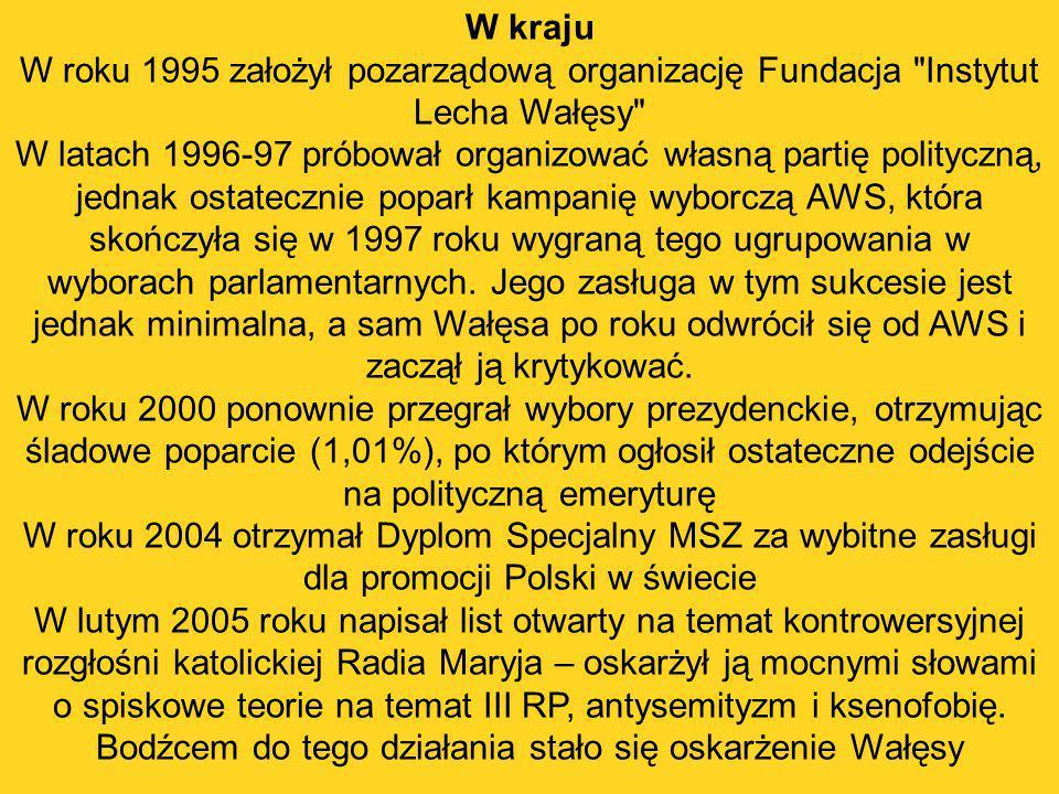 W kraju W roku 1995 założył pozarządową organizację Fundacja