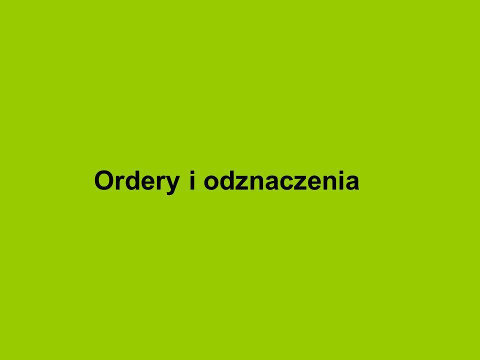 Ordery i odznaczenia