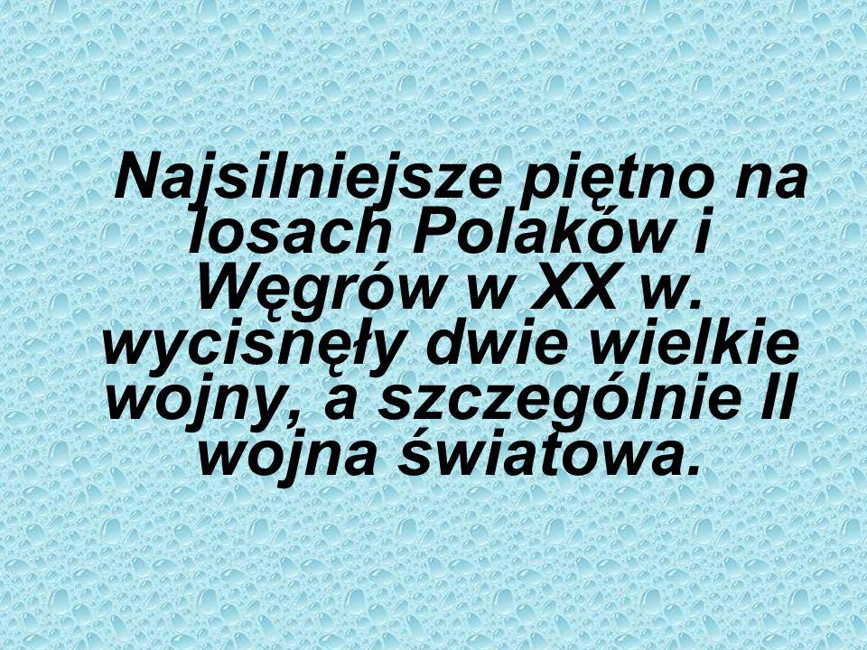 Najsilniejsze piętno na losach Polaków i Węgrów w XX w.