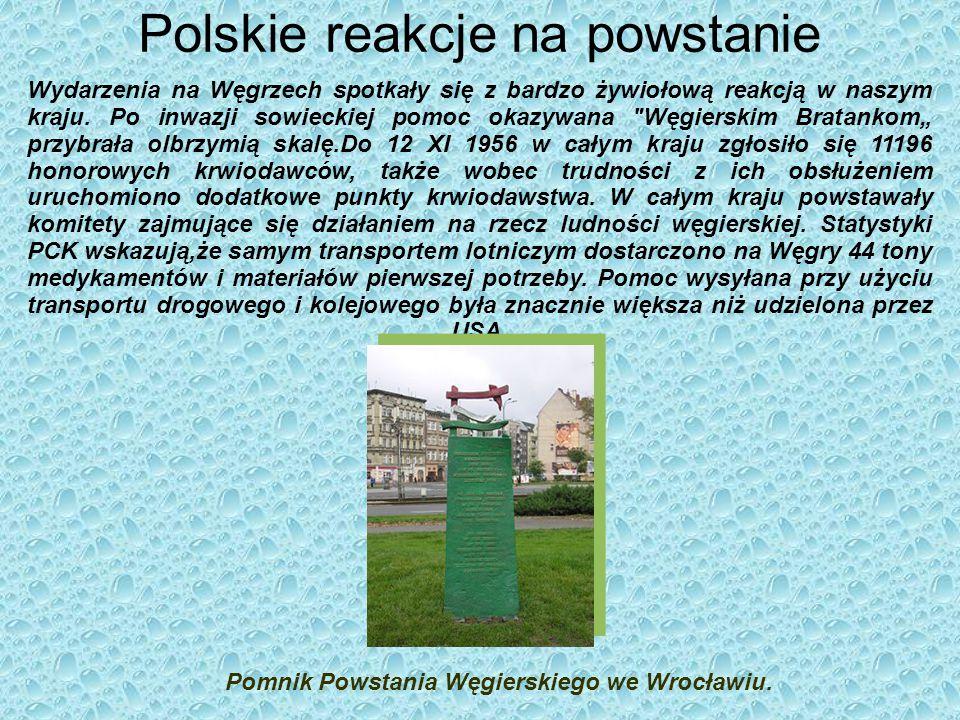 Polskie reakcje na powstanie Wydarzenia na Węgrzech spotkały się z bardzo żywiołową reakcją w naszym kraju.