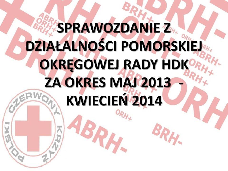SPRAWOZDANIE Z DZIAŁALNOŚCI POMORSKIEJ OKRĘGOWEJ RADY HDK ZA OKRES MAJ 2013 - KWIECIEŃ 2014