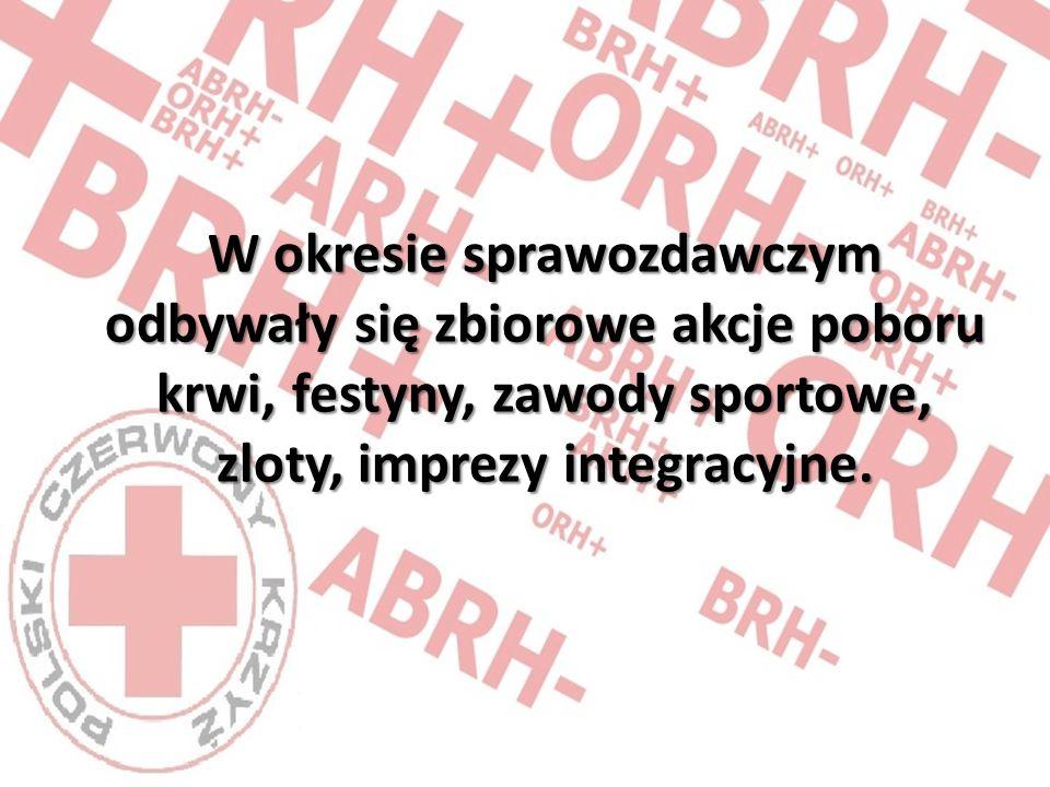 W okresie sprawozdawczym odbywały się zbiorowe akcje poboru krwi, festyny, zawody sportowe, zloty, imprezy integracyjne.