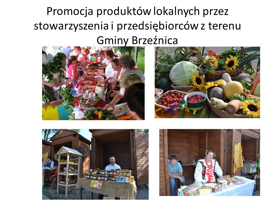 Promocja produktów lokalnych przez stowarzyszenia i przedsiębiorców z terenu Gminy Brzeźnica