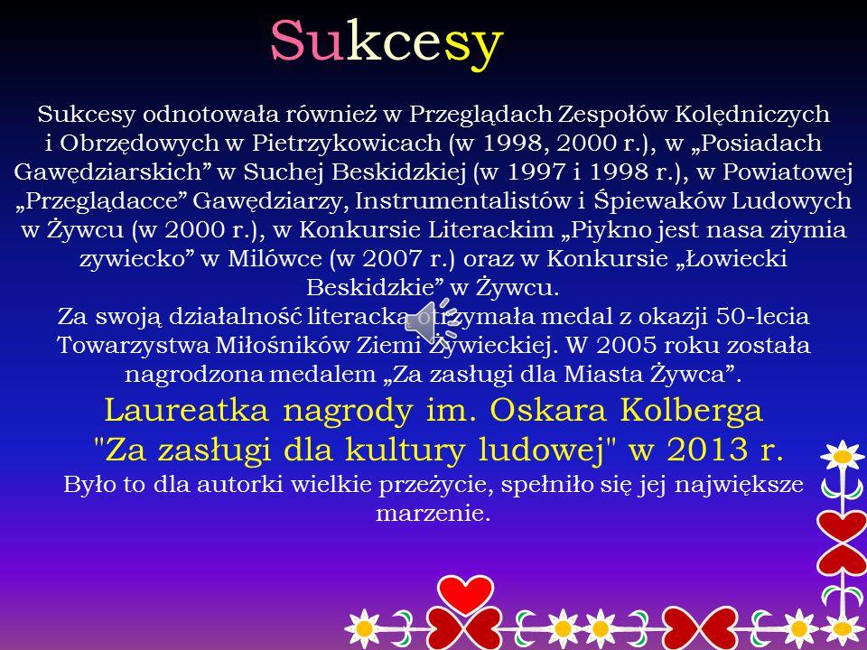 """Pierwsze tomiki poezji Genowefa Iwanek posiada w swoim dorobku dwa indywidualne tomiki """"Wybór wierszy"""" z 2003 r. i """"Wiersze"""" z 2010 r. wydane przez Gm"""