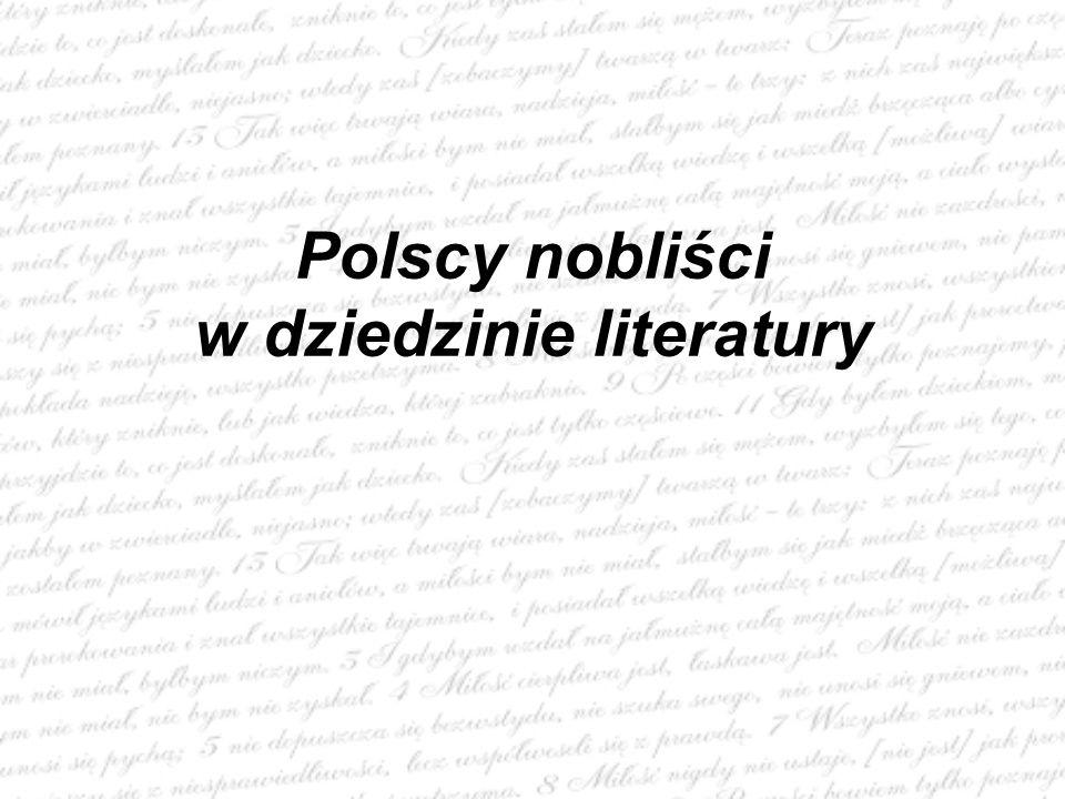 Polscy nobliści w dziedzinie literatury