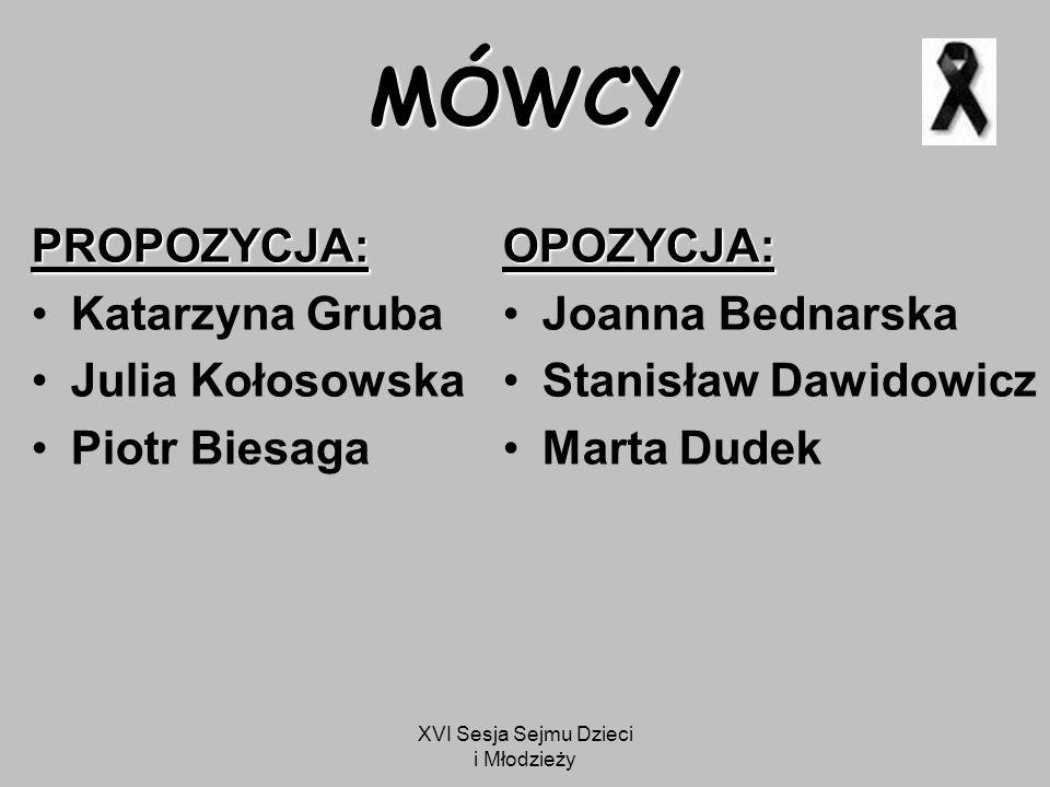 """XVI Sesja Sejmu Dzieci i Młodzieży """"Pani Marszałek, Pani Sekretarz, szanowni zebrani…"""