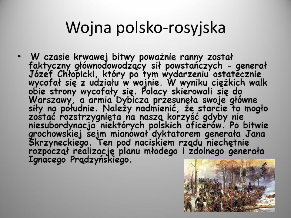 Realizując ten znakomity plan działań zaczepnych wojska powstańcze pobiły siły rosyjskie pod Dębem Wielkim (31 marca) i pod Iganiami (10 kwietnia).