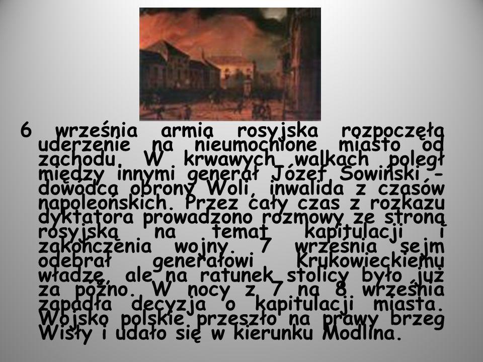 6 września armia rosyjska rozpoczęła uderzenie na nieumocnione miasto od zachodu.