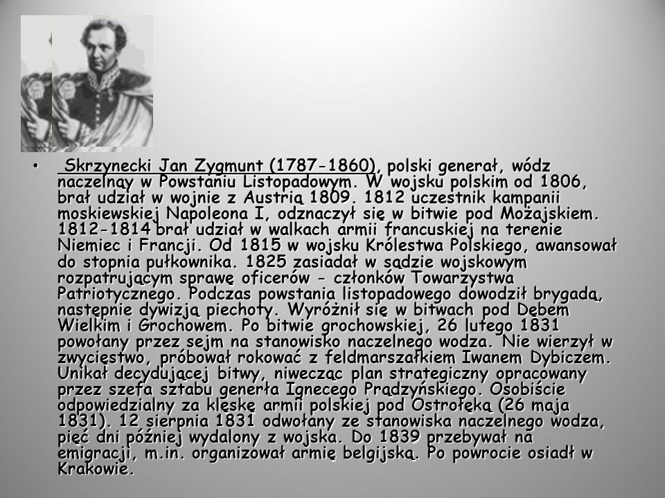 Sowiński Józef Longin (1777-1831), polski generał.