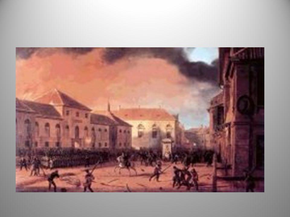 Noc listopadowa Wieczorem 29 listopada 1830 grupa cywilnych spiskowców współpracujących z podchorążymi rozpoczęła akcję powstańczą atakiem na Belweder - siedzibę rosyjskiego dowódcy armii polskiej.