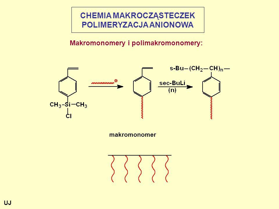 CHEMIA MAKROCZĄSTECZEK POLIMERYZACJA ANIONOWA Makromonomery i polimakromonomery: makromonomer UJ
