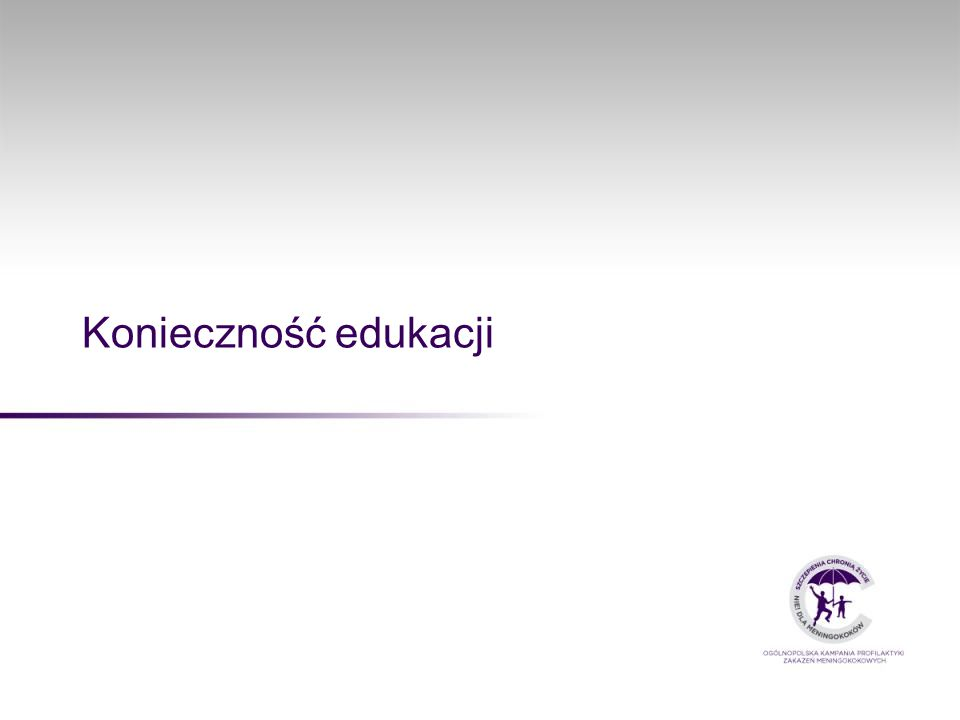 Konieczność edukacji