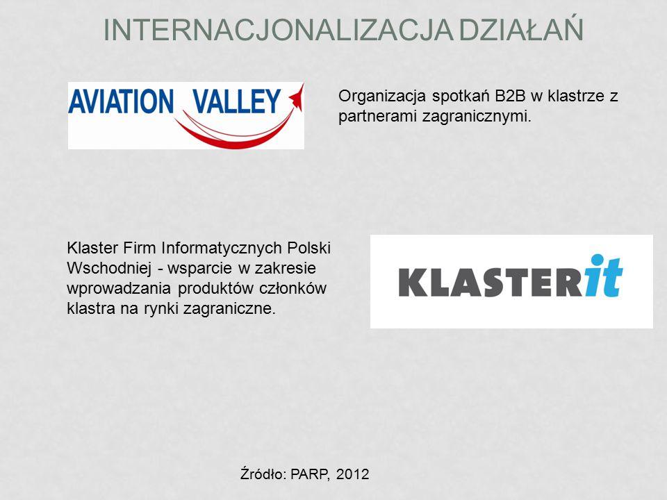 INTERNACJONALIZACJA DZIAŁAŃ Organizacja spotkań B2B w klastrze z partnerami zagranicznymi. Klaster Firm Informatycznych Polski Wschodniej - wsparcie w